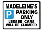 MADELEINE'S Personalised Parking Sign Gift | Unique Car Present for Her |  Size Large - Metal faced
